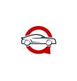automotive chat logo icon design vector image