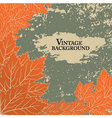 Autumn background in vintage style vector image vector image
