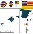 balearic islands spain vector image vector image