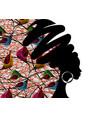 banner portrait african woman in ethnic turban vector image vector image