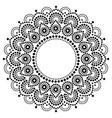 bohemian mandala dot painting design abori vector image vector image