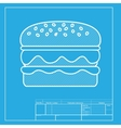 Burger simple sign White section of icon on vector image vector image