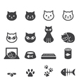 cat icon set vector image vector image