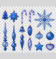 christmas tree realistic set vector image
