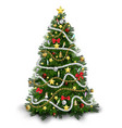 christmas tree with colorful ornaments vector image vector image