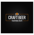 craft beer logo design background vector image