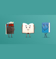 cute books characters set vector image vector image