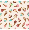 Desserts seamless pattern with ice cream vector image vector image