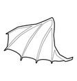 dragon wing icon outline style vector image vector image