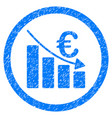euro recession rounded icon rubber stamp vector image vector image