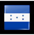 Flag of Honduras Glossy Icon Square Shape vector image vector image