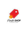 flash shop logo design template flash sale vector image