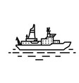 flat linear ice breaker ship vector image
