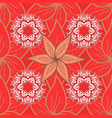 flowers on red orange and white colors seamless vector image