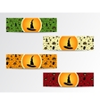 Four Halloween little banners with Green red vector image vector image
