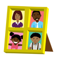 frame with african family portrait vector image vector image
