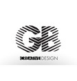 gb g b lines letter design with creative elegant vector image