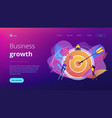 goals and objectives concept landing page vector image vector image