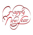 happy new year text design vector image vector image
