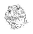 head dinosaur vector image vector image