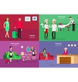 Hotel staff and service vector image