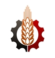 Icon depicting agriculture and industry vector image vector image