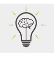 idea concept - bulb and brain vector image vector image