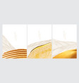 japanese background with gold texture brush vector image