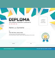 kids diploma or certificate template with award vector image vector image