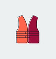 life vest flat line icongraphic design vector image