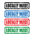 locally made stamp vector image