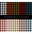 lumberjack seamless pattern collection vector image vector image
