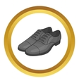 Mens classic shoes icon vector image vector image