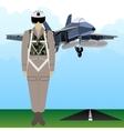 Military Uniform Force pilot-2 vector image vector image