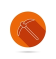 Mining tool icon Pickaxe equipment sign vector image