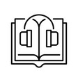 monochrome simple audiobook linear icon vector image