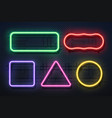 neon light frame retro banner element futuristic vector image vector image