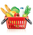 object shopping basket products vector image vector image