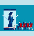 office people online meeting concept business vector image