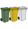 Recycling dustbins vector image vector image
