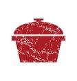 Red grunge pan logo vector image vector image