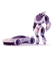 robot transformer in form android and car vector image