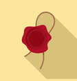 sealing wax icon flat style vector image