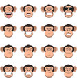 set head monkey vector image vector image