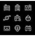 Set line icons of electrical generator