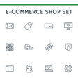 set of e-commerce icons shopping and online can vector image vector image