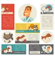 Set of horizontal banners Pet care Vet clinic vector image vector image
