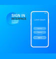sign in interface screen mobile ui design concept vector image