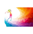 silhouette of woman golf player eps10 vector image