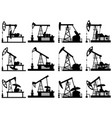 silhouettes of units for oil pump vector image vector image